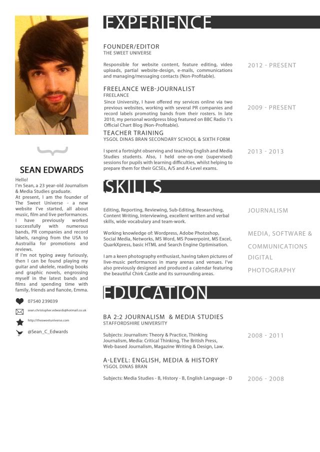 editor u2019s cv  resume